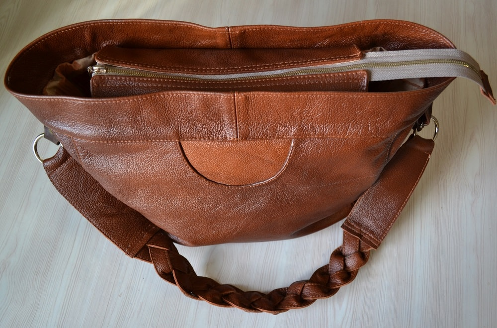 Leather Tote Bag with Zipper Tutorial | How to Make Womens Bags