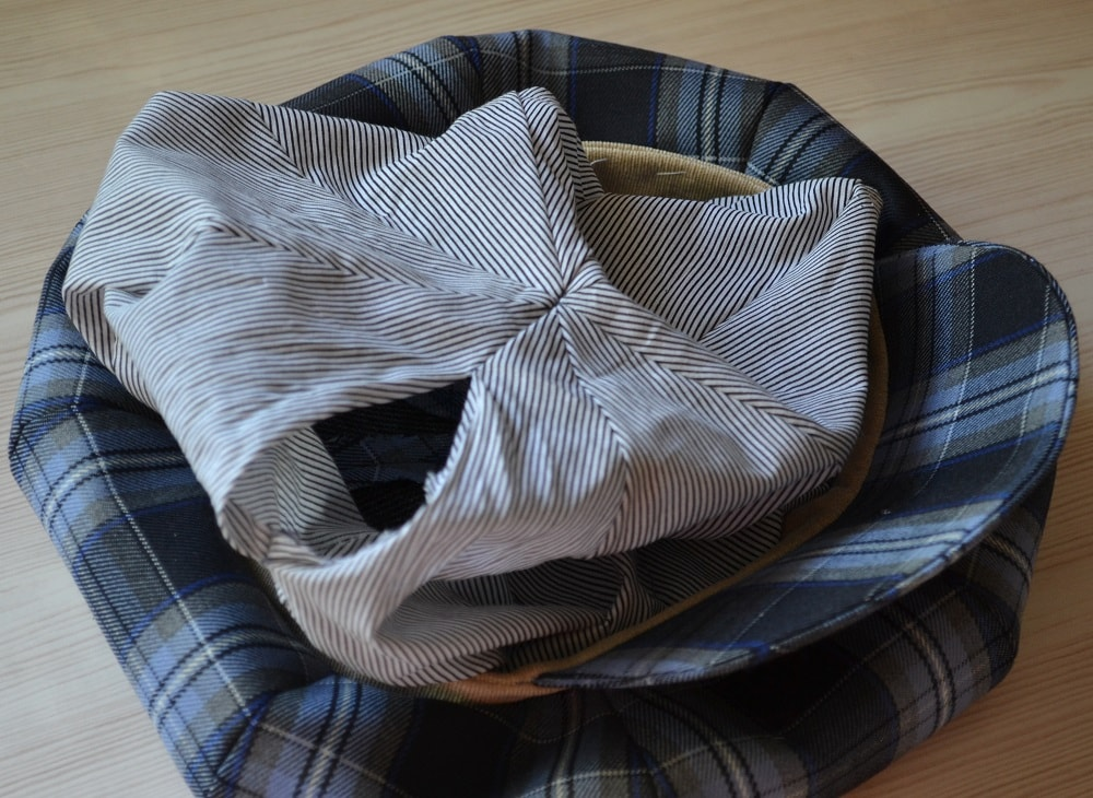 How to Make Newsboy Hat, step 16