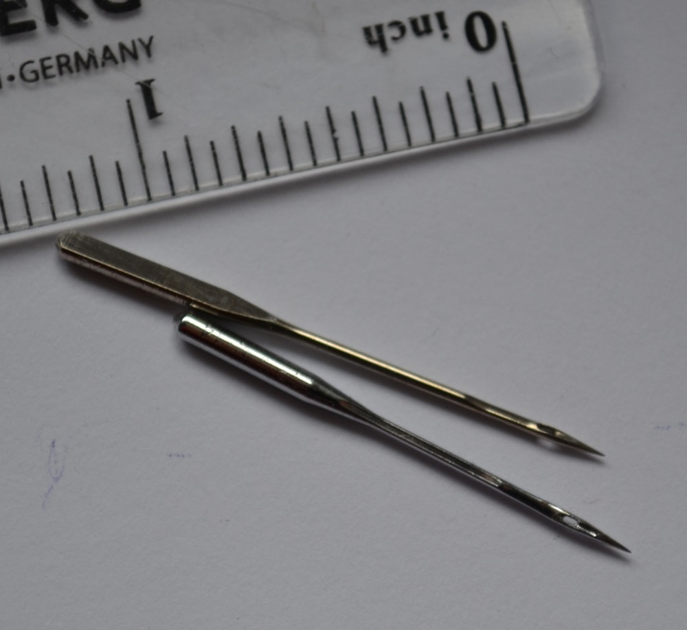 Serger needles vary in thickness and length