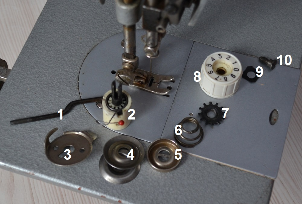 How Disassemble A Thread Tensioner Sewing Machine Parts Fascinating How To Assemble Sewing Machine