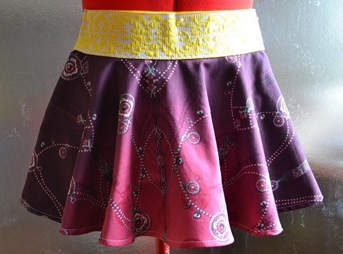 Girls Circle Skirt with Elastic Band