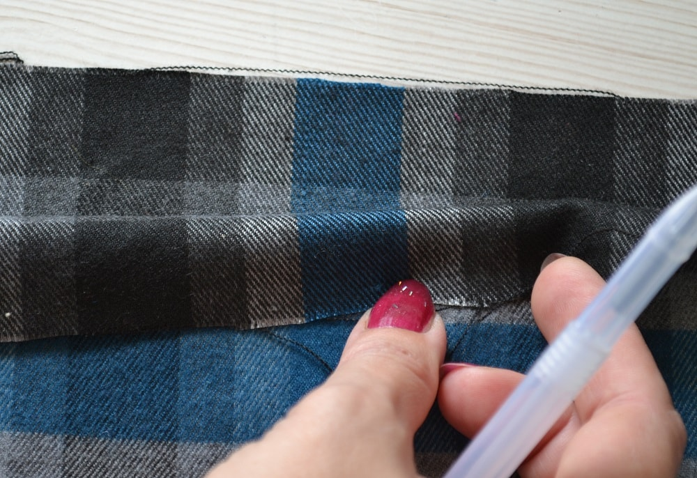 How to Make an Inverted Pleat Skirt, step 3